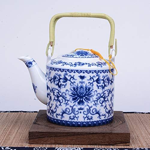 Tetera de porcelana azul y blanca de 750 ml, diseño de artista de primer nivel de China, olla de arena de cerámica, juego de té de Kung Fu hecho a mano, tetera, hervidor Puer