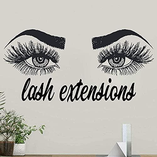 Pegatinas de pared arte del dormitorio pegatinas de ventana ojos cable de...