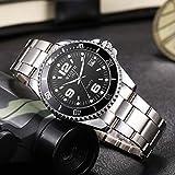 Waterproof Sports Watch Men's Business Watch Night Light Calendar Men's Watch Steel Belt Black Face-1#