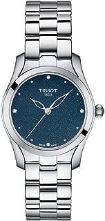 ساعة تيسوت انالوج كلاسيك بسوار فضي للنساء - T112.210.11.046.00