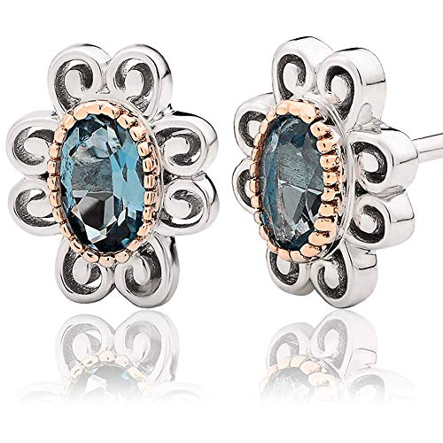Clogau Two Queens Earrings - Topaz - 3SALWSE