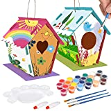 MATELOTI Crafts for Kids Ages 4-8, 2Pack DIY Bird House kit for Kids, Paint and Decorate Crafts Wooden Arts for Girls Boys Toddlers Ages 3-5 8-12