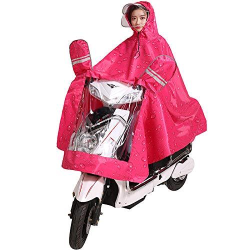 Impermeable Bicicleta eléctrica Motocicleta Impermeable Hombres y mujeres Adultos Sombrero doble Poncho...