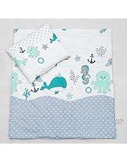 Baby Comfort 2-delat påslakan & örngott 80 x 70 cm set för spjälsäng/vagga/barnvagn 13