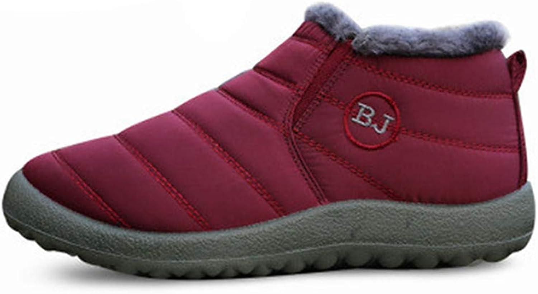 Fay Waters Womens Snow Boots Winter Anti-Slip Ski Ankle Booties Waterproof Slip On Warm Cotton Lined Sneaker