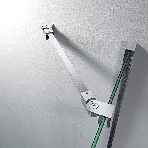 Barras de apoyo de la pared al vidrio para colocar paneles de puerta de ducha, sin marco, acero inoxidable, para vidrios de 6mm a 10mm de grosor de M-Home