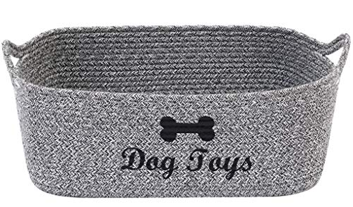 Brabtod - Cesta de juguete para perros con asa,cesta de almacenamiento para...