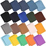 40 Pieces Iron On Fabric Patches Denim Jean Repair Patches Clothing Repair Patch Kit for Jacket Jean Clothes,Large Size 4.9'x3.7'(20 Colors)