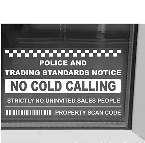 Platinum plaats binnen venster Version-geen koude bellers, verkoper bellen waarschuwing huis Sticker-zelfklevende Vinyl teken