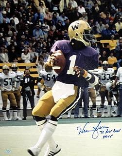 Warren Moon Signed 16x20 Photo Washington Huskies 78 Rose Bowl MVP - Authentication Authentic Autograph - Football Collectible