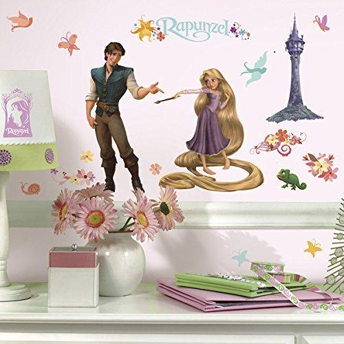 RoomMates Disney Rapunzel Wandsticker Wandtattoo Wandkleber Wandsticker Wandbild Flynn Raider 46 Teile