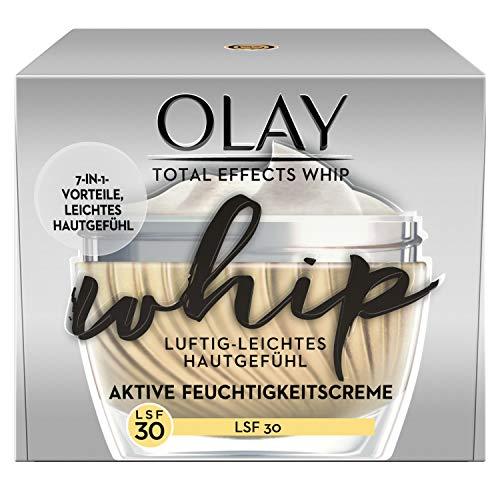 Olay Total Effects Whip Luftig-Leichte Feuchtigkeitscreme LSF30 50∘ml – 7-In-1 Vorteile Und Leichtes Hautgefühl