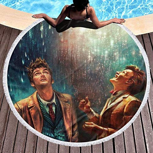 Doctor Who Toalla de playa redonda de gran tamaño Ultra absorbente de agua Manta de microfibra suave Toalla de playa Estera de yoga Decoración del hogar Estera de picnic Cubierta de cama Tapiz Manta d