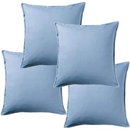 Ikea Gurli 504 334 16 Set Di 4 Federe Per Cuscino 50 X 50 Cm Colore Azzurro Amazon It Casa E Cucina