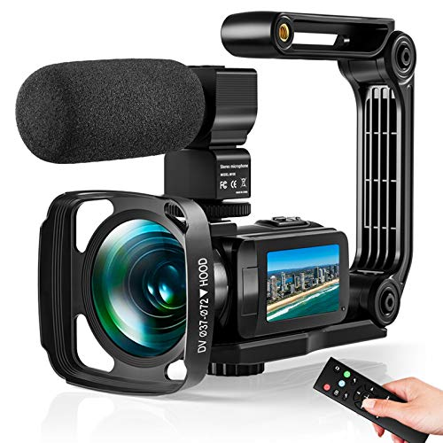 Video Camera Ultra 2.7K Camcorder HD 36MP Digital Vlogging Recorder with IR Night...