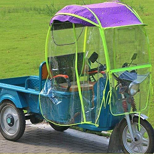PoJu Cubierta de Lluvia Mobility Scooter Sun Rain Wind Cover Coche eléctrico Prevent Umbrella, Universal Car Motor Scooter Paraguas Mobility Sun Shade Rain Cover Impermeable
