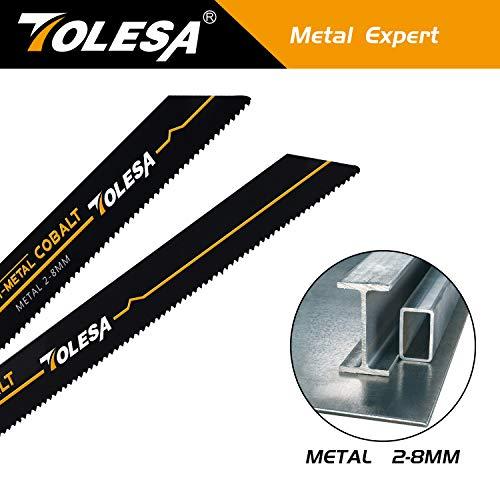 Product Image 7: TOLESA Reciprocating Saw Blade Bi-Metal Cobalt for Sawzall Saw 9-Inch 14TPI Metal Cutting - 5 Pack