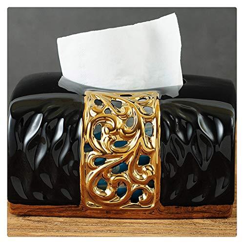 DFSDG Caja de Almacenamiento de Caja de Tejido Cuadrado Creativo Dispensador de Cajas de Tejido de dispensador Toalla de baño Caja de Toalla de baño Seda Caja de Limpieza (Color : Black)