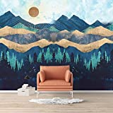 SIGNFORD Wall Mural Nordic Style Nature Landscape Removable Wallpaper Wall Sticker for Bedroom Living Room - 100x144 inches