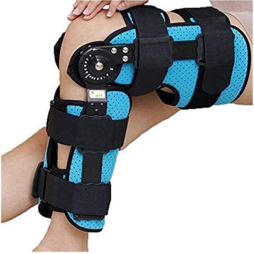 PINGJIA Verstellbarer ROM-Klappkniestütze Beinstütze, postoperative Kniestütze zur Wiederherstellung Stabilisierung Band- / Sportverletzungen Unisex