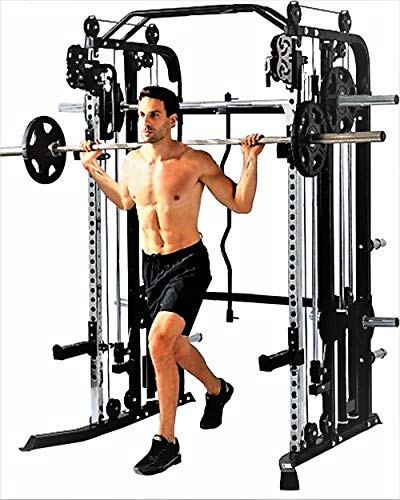 MiM USA Functional Trainer Smith Machine Power Cage All in One Gym Machine SM+FT 1001 Pro (Machine Combo)