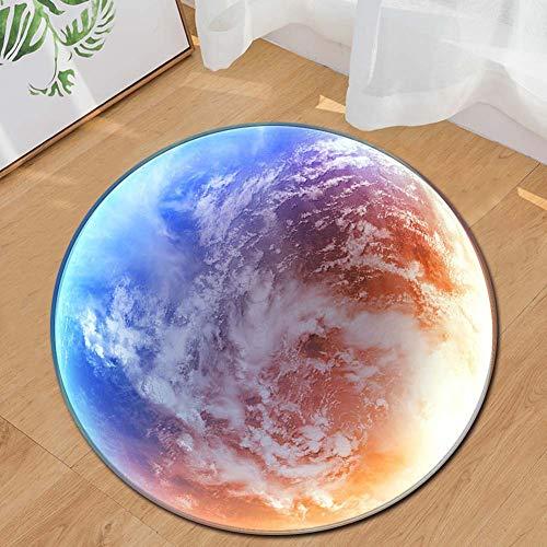 Taosheng Ethnische Wind-Computer-Stuhl-Bodenmatte, rund, 120 cm
