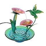 Shop LC Flying Bird Design Water Fountain with UL Certified Pump Durable Metal Glass Indoor Outdoor Garden Decorations Tabletop Home Decor Accessories