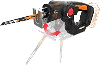 WORX WX550L.9 20V AXIS 2-in-1 Reciprocating Saw and Jigsaw with Orbital Mode, Variable..