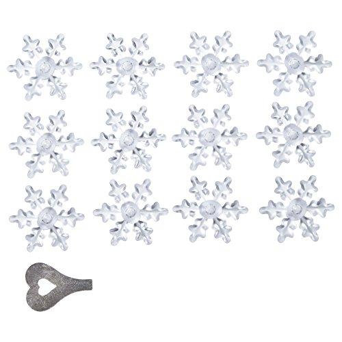 IKEA STRALA 50310509 ライトチェーン用 クリスマス デコレーション 雪の結晶 12 ピース