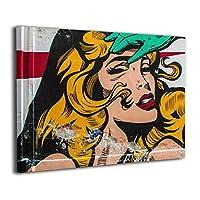 Skydoor J パネル ポスターフレーム 落書き ファム ・ ファタール 女性 インテリア アートフレーム 額 モダン 壁掛けポスタ アート 壁アート 壁掛け絵画 装飾画 かべ飾り 30×40