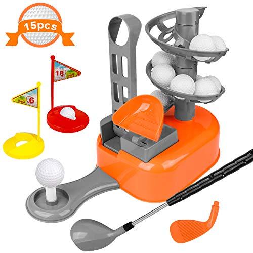 LOYO Kids Golf Clubs Toy Set Toddler-Golf-Clubs Sport Outdoor Toys, Golf-Balls-Game Gift for Preschool Boys Girls Age 3, 4, 5, 6, 7, 8