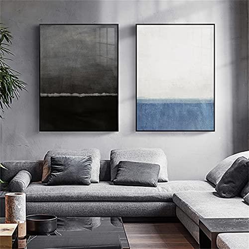 paglutaw Nordic Modern Modern Minimalist Fund Wall Art Blue White Canvas Pintura Poster Poster...