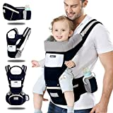 Kilitn Baby Soft Carrier, 12-in-1 Multifunction Baby Carrier Hip Seat for Newborn, Infant & Toddler, Adjustable Straps and Breathable Mesh, All Seasons, Perfect for Hiking Shopping Travelling