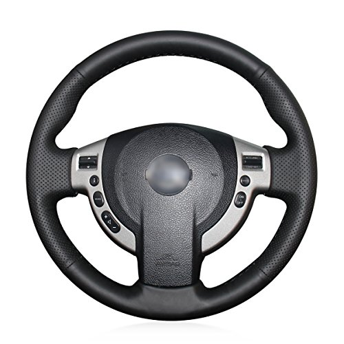 MEWANT Cubiertas de volante de coche hechas a mano para Nissan Qashqai/Qashqai+2/X-Trail/NV200/Serena/Evalia/AD/Dualis