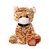 My Baby's Heartbeat Bear Furbaby's Recordable Stuffed Animals 20 sec Heart Voice Recorder for Ultrasounds and Sweet Messages Playback - Orange Kitty