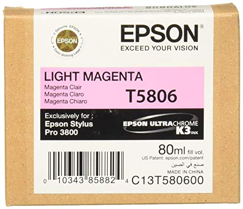 Price comparison product image Epson T5806 UltraChrome K3 Light Magenta Cartridge Ink