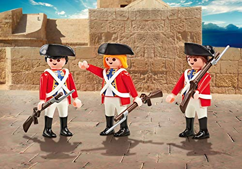 PLAYMOBIL 9886 3 Englische Soldaten Rotröcke (Folienverpackung)