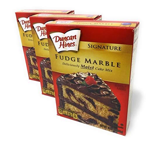 Duncan Hines Signature Fudge Marble Cake Mix 16.5 Oz. Pack Of 3.