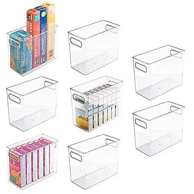 mDesign Plastic Food Storage Organizer Bin, 8 Pack - Clear by