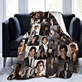 CNAOWHG Ian Somer halder Flannel Fleece Blanket Ultra-Soft Micro Fleece Blanket Fashion Air Conditioning Blanket Microfiber Blankets for Bed Couch Chair Living Room 50'x40'