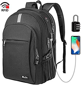 Raydem Durable Anti-Theft Travel Backpack with USB Charging
