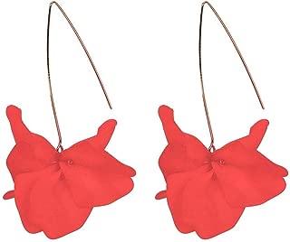 Niome Dangle Earrings Flower Petals Dangles Long Resin Colour Earrings for Women Girls