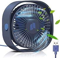 TedGem USB Ventilator, Handventilator Ventilator Klein PC Ventilator USB Mini Ventilator 3 Geschwindigkeiten, USB Lüfter...