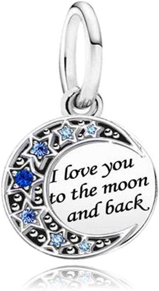 CharmSStory I Love You to The Moon and Back Bead for Charm Bracelet