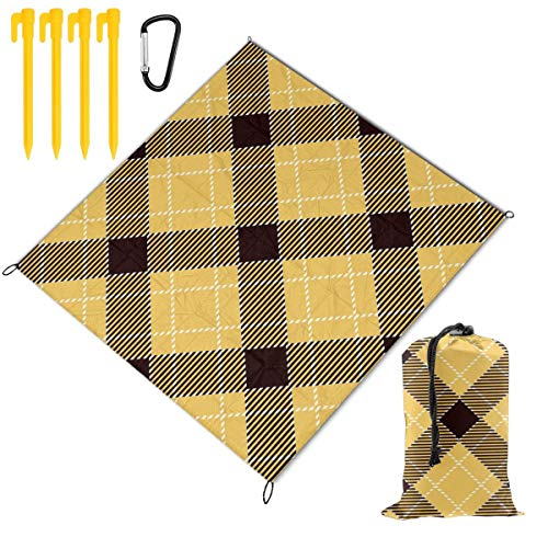 Check Out This Hucuery Picnic Blanket 59 X 57 in Seamless Tartan Pattern Foldable Waterproof Extra L...