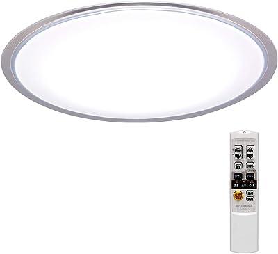アイリスオーヤマ LEDシーリングライト 調光/調色 ~12畳 (日本照明工業会基準) 5200lm リモコン 省エネ 取付簡単 切タイマー クリアフレーム CL12DL-5.0CF