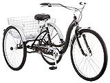 Schwinn Meridian Adult Trike, Three Wheel Cruiser Bike, 1-Speed, 26-Inch Wheels, Black