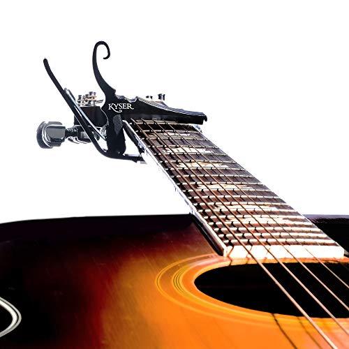 KyserKG6Bギターカポタストカポ6弦アコースティックギター用軽量アルミニウム製ブラック