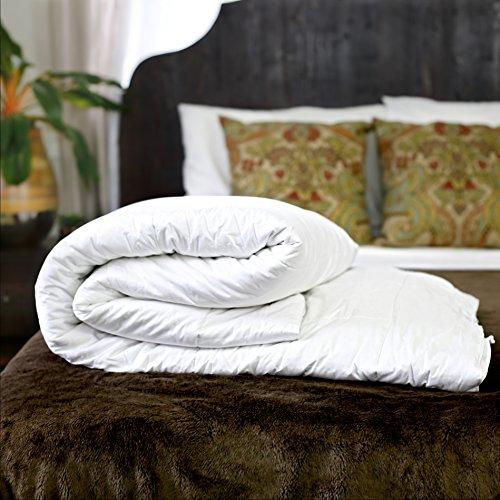 Silk Bedding Direct Piumone Riempito di Seta. Letto Matrimoniale. Utilizzo Primavera/Autunno. 100% Seta di Gelso. Anallergico. 200cm X 200cm. Prezzo Basso di Vendita