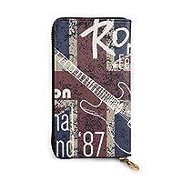 London Rock Festival 長財布 メンズ レディース 本革 マネークリップ 大容量 財布 カード縦収納 本革製 12カード入れ